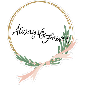 always and forever wreath