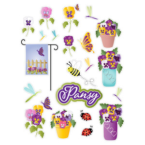 pansy planner stickers