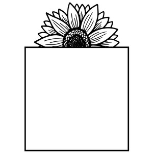 square sunflower frame