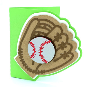 baseball glove and ball card