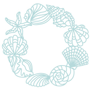 seashells wreath