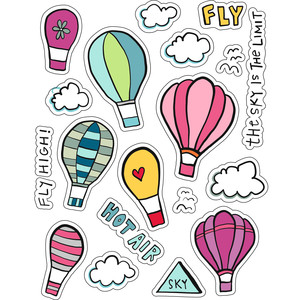 ml hot air balloons stickers