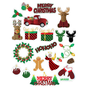 buffalo plaid christmas planner stickers