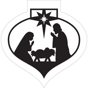 ornament shaped nativity
