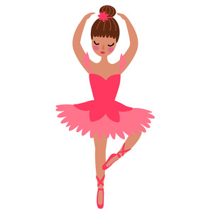 ballerina with brown hair