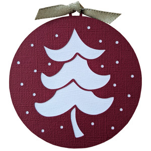 christmas tree ornament gift tag