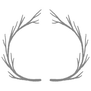 grunge branch wreath