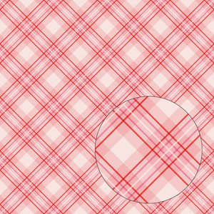 red & pink plaid seamless pattern
