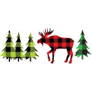 plaid moose forest