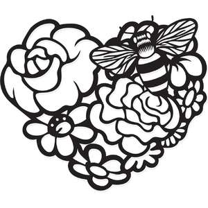 honey bee garden heart