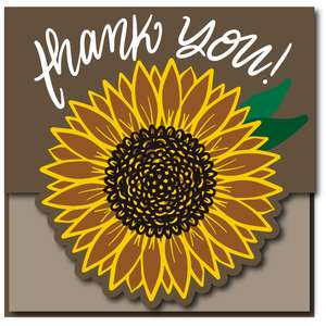 thank you sunflower card