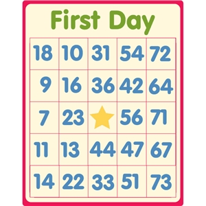 first day school bingo card