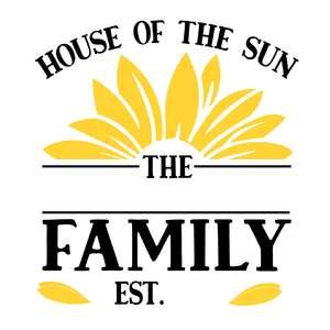 house of the sun family name sign