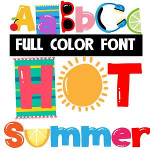 hot summer color font
