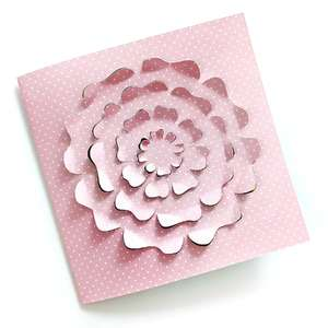 cut and bend flower card