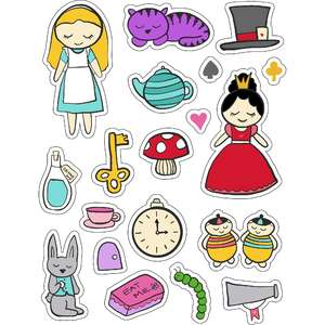 ml alice in wonderland stickers