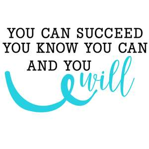 you can succeed quote