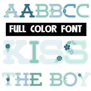 kiss the boy color font