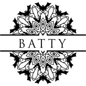 batty mandala title nameplate