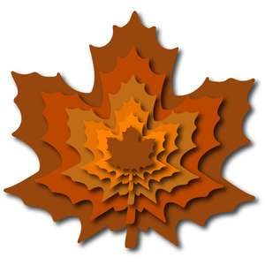 nested maple leaves