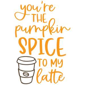 you're the pumpkin spice to my latte