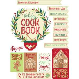 holiday cookbook stickers