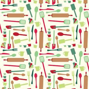 holiday utensils pattern