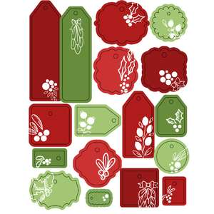 ml mistletoe tags stickers