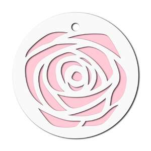 rose gift tag
