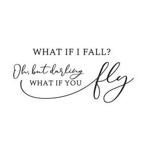 what if i fall but darling what if you fly