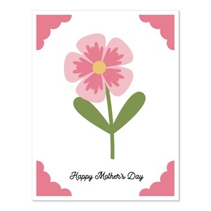 a2 insert card flower mother's day
