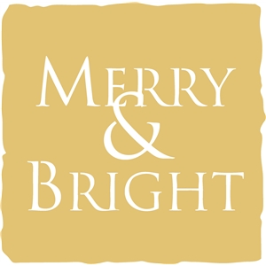 merry & bright square