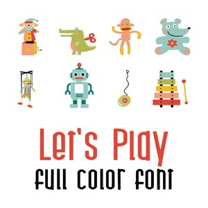 let's play full color font