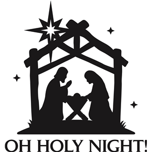 'oh holy night' christmas vinyl phrase