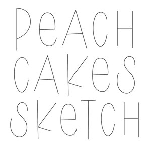 dtc peach cakes sketch font