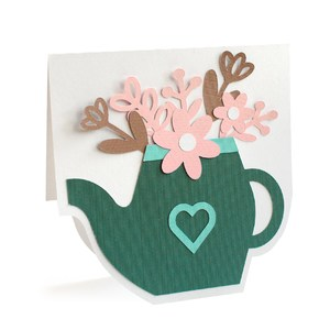 flowers teapot card