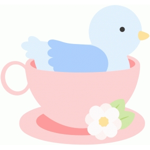 sweet birdy in a cup