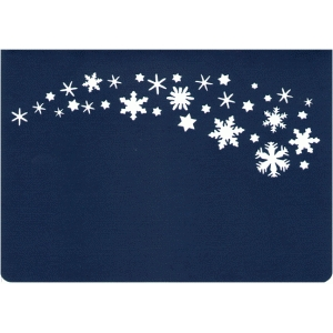 snowflake spray card