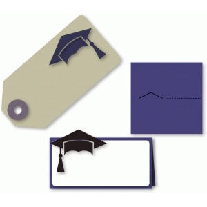 mortar board place card & large gift tag