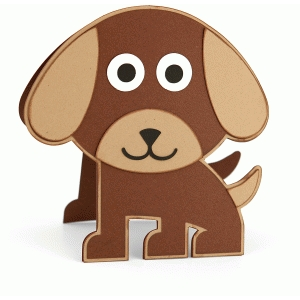 puppy dog shaped card