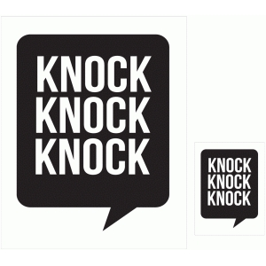 knock knock knock print and cut quote card