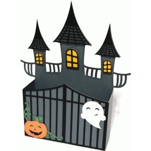 box halloween haunted house