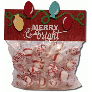 merry and bright bag topper