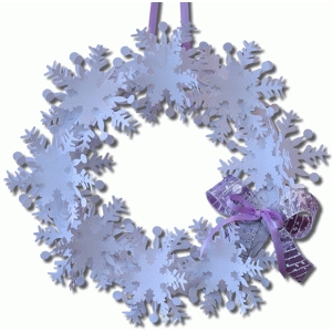 ​3d snowflake wreath