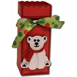 3d polar bear decorative box