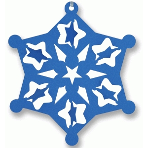 3d snowflake with flip stars ornament