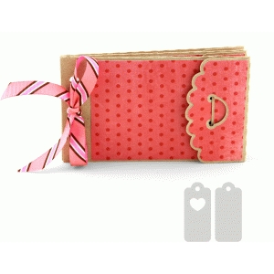 scalloped pocket gift card mini album