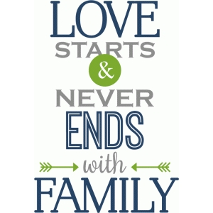 love starts with family phrase
