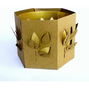 dimensional leaves candle holder