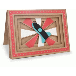 rocket shadow box folded card